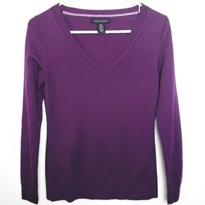 Banana Republic Purple V-Neck Sweater X-Small